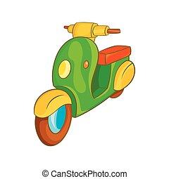 Scooter motorbike icon, cartoon style