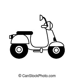 scooter motorcycle isolated icon vector illustration design