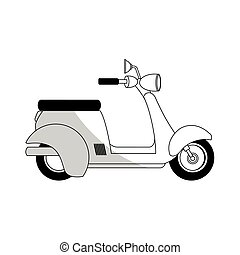 scooter or moped icon image