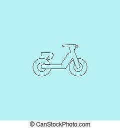 Scooter or moped, vector illustration