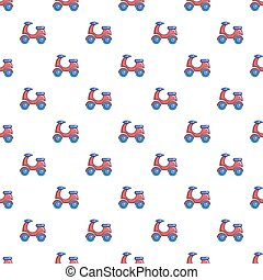 Scooter pattern seamless
