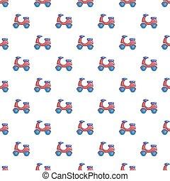Scooter pattern seamless