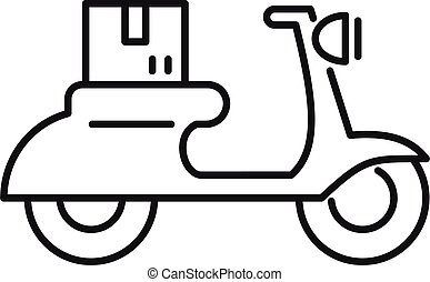Scooter relocation icon, outline style - Scooter relocation ...