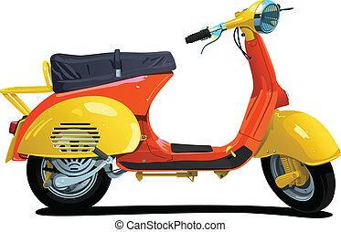 scooter., retro