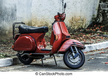 scooter, rood