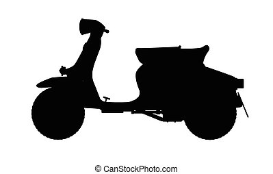 scooter, silhouette
