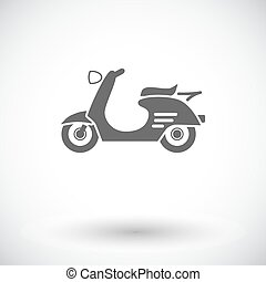 Scooter. Single flat icon on white background. Vector...