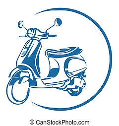 scooter, symbole