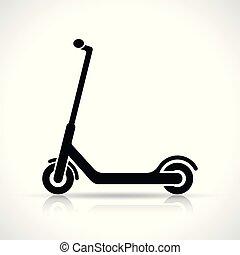 scooter, vecteur, conception, icône