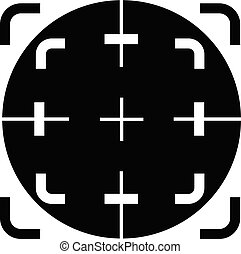 Scope crosshair icon, simple style