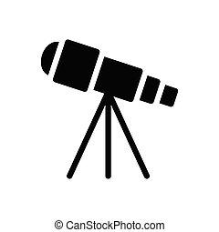 scope  glyph flat icon