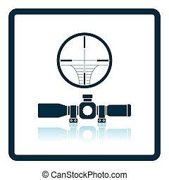 Scope icon. Shadow reflection design. Vector illustration.