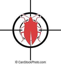 Scope Pest Control - illustration of a scope with a bug,...