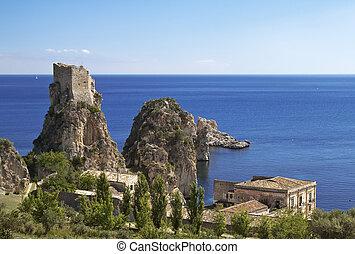 Scopello quater - Scopello, north-western Sicily: stacks...
