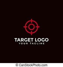 scopo, bersaglio, disegno, fuoco, colpo, logotipo, sagoma