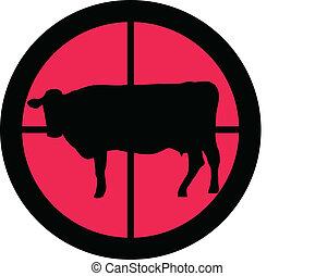scopo, mucca, -, serie