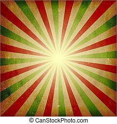scoppio, afflitto, verde leggero, fondo, rosso
