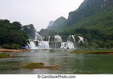scoppio, -, detian, cascata, cao, gioc, bando, vietnam