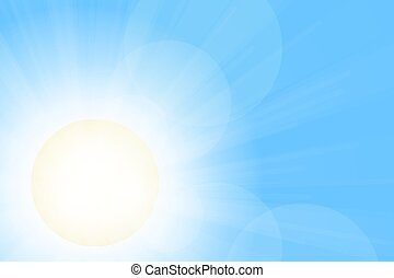 Scorching sunlight. Clear blue sky illustration