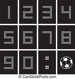 score board number - soccer ball score board number