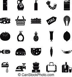 Score icons set, simple style