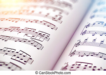 Score sheet music book