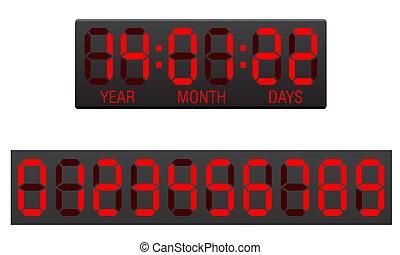 scoreboard , μετρών την ώραν , αντίστροφη μέτρηση , μικροβιοφορέας , εικόνα , ψηφιακός