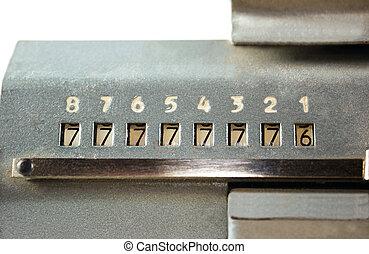 Scoreboard adding machine