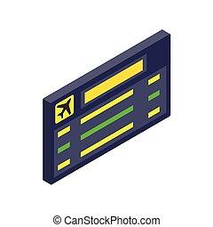 Scoreboard air travel isometric 3d icon