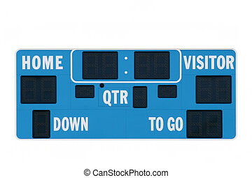 scoreboard american football - isolated over white with ...