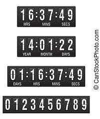 scoreboard, conto alla rovescia, timer, vettore,...
