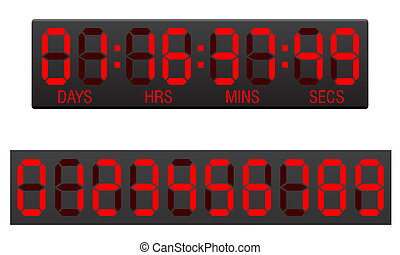 scoreboard digital countdown timer vector illustration
