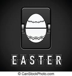 Scoreboard Easter. Illustration for design on black background
