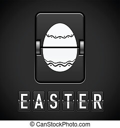 Scoreboard Easter. Illustration for design on black ...