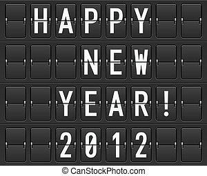 Scoreboard Happy New Year. Illustration of the designer
