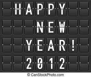 Scoreboard Happy New Year. Illustration of the designer