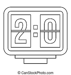 Scoreboard icon, outline style