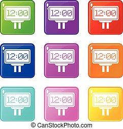 Scoreboard icons 9 set