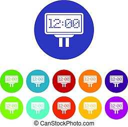 Scoreboard icons set flat vector