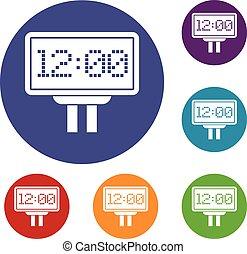 Scoreboard icons set