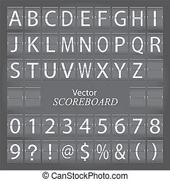 Scoreboard - Image of a gray scoreboard.