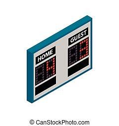 Scoreboard isometric 3d icon