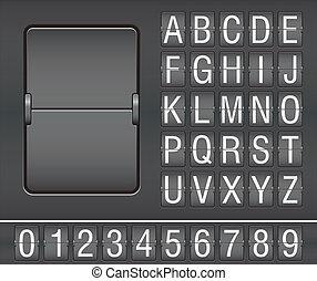 scoreboard, mechaniczny