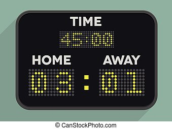 minimalistic illustration of a sports scoreboard, eps10 vector