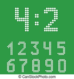Scoreboard number set