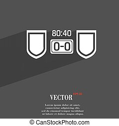 Scoreboard symbol Flat modern web design with long shadow and space for your text. Vector
