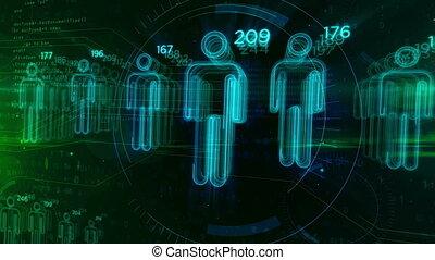 scoren, classificatie, concept, mensen, looping, animatie,...