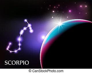 Scorpio Astrological Sign and copy space - Scorpio - Space...