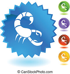 Scorpio web button isolated on a background
