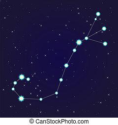 Scorpio constellation - Constellation of scorpio on night...